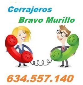 Telefono de la empresa cerrajeros Bravo Murillo