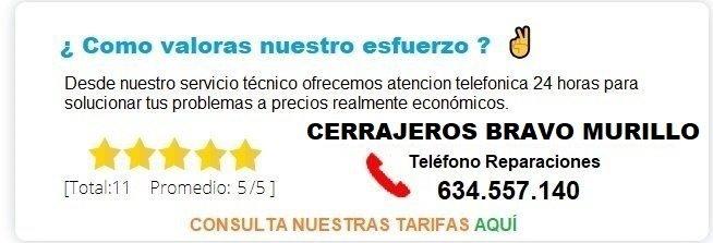 cerrajeros Bravo Murillo precios